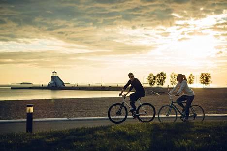Oulussa on kätevä liikkua pyörällä.