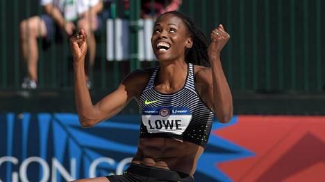 Chaunte Lowe tuuletti Yhdysvaltain olympiakarsinnoissa tulosta 201.