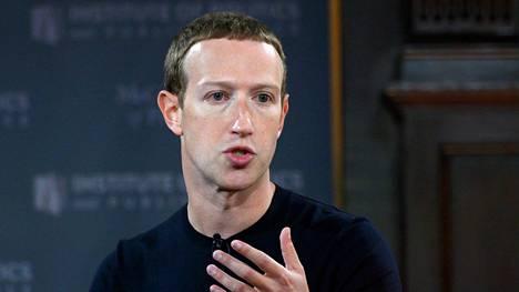 Facebookin toimitusjohtaja ja perustaja Mark Zuckerberg Washingtonissa lokakuussa 2019.