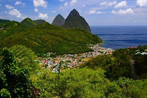 Näkymä Saint Lucian saarelta.