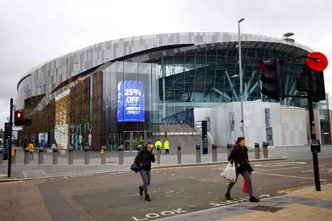 Valioliiga-seura Tottenham Hotspurin kotistadionin ympäristössä oli hiljaista jo 15. maaliskuuta.