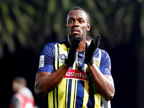 Usain Bolt pääsi pelaamaan West Coast Marinersissa yhden harjoitusottelun.