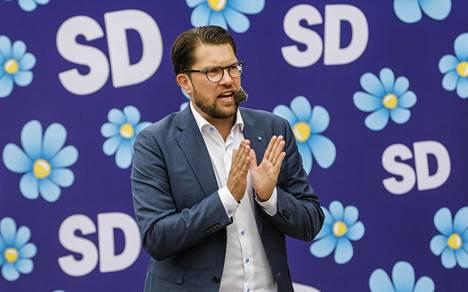 Jimmie Åkesson on ollut ruotsidemokraattien puheenjohtaja vuodesta 2005.
