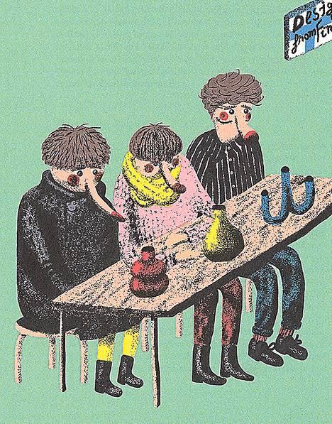 Designkuplia-kirjan on kuvittanut Samuli Saarinen.