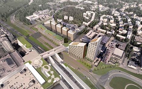 Leppävaaran aseman tuntumaan on soviteltu lisää asuntoja, toimistoja ja hotelli. Rantaradan yli on suunnitteilla katettu asemasilta.