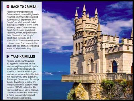 Osa Allegro-lehden Krim-sivusta.