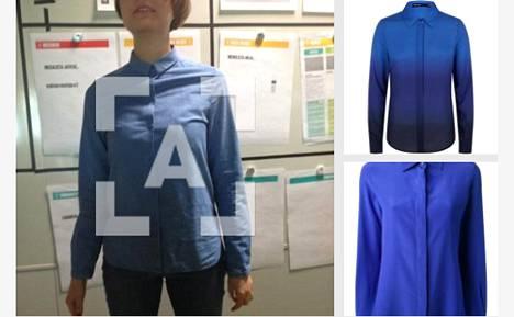 Sovellus ehdottaa sinisen paidan nähdessään sinisiä paitoja.