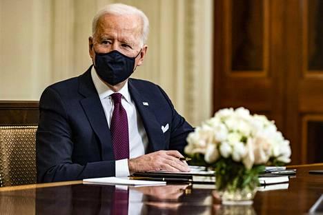 Yhdysvaltain presidentti Joe Biden Washingtonissa 5. maaliskuuta.