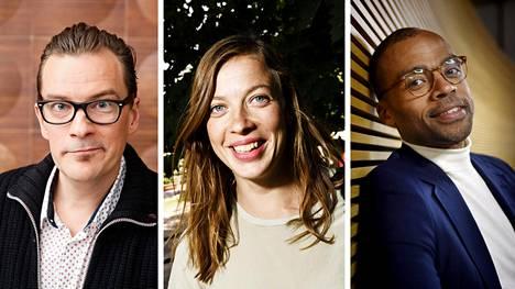 Ohjelmassa haastatellaan muun muassa André Wickströmiä (vas.), Li Anderssonia ja Jani Toivolaa.