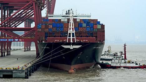 Rahtilaiva Zhoushanin satamassa kuvattiin vuonna 2016.