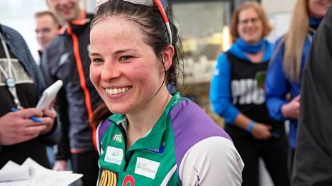 Krista Pärmäkoski kilpaili suunnistuksen Venlojen viestissä Kangasalan Jukolassa kesäkuussa 2019.