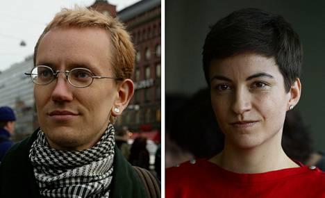 Markus Drake 2003 (vas.) ja Ska Keller 2013.