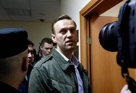 Venäläinen oppositiojohtaja Aleksei Navalnyi kävi oikeuden kuultavana Moskovassa lokakuun alussa.