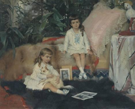 Albert Edelfelt: Suuriruhtinaat Boris ja Kirill Vladimirovitš lapsina (1881).