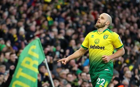 Teemu Pukki on tehnyt nyt kymmenen maalia tällä kaudella Norwichin paidassa.
