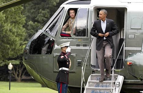 Yhdysvaltain presidentti Barack Obama palasi Washingtoniin perjantaina.