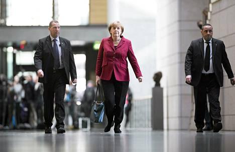 Saksan liittokansleri Angela Merkel neuvotteli puolueensa kanssa hallitusneuvotteluista Berliinissä 17. syyskuuta.
