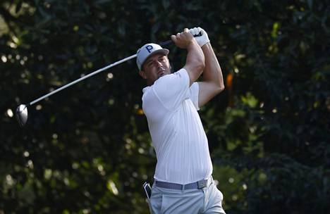 Bryson DeChambeau harjoitteli keskiviikkona Augustan golfkentällä.