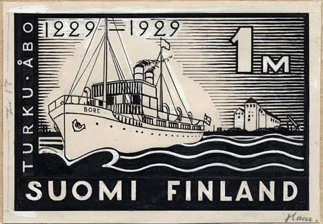 Hamin Turun 700-vuotisjuhlaa varten suunnittelema merkki.