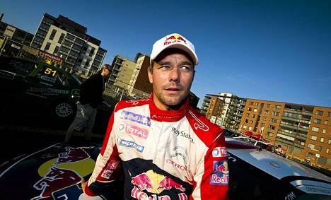 Sébastien Loeb voitti maailmanmestaruuden yhdeksän kertaa. Kuva Jyväskylästä vuodelta 2012.