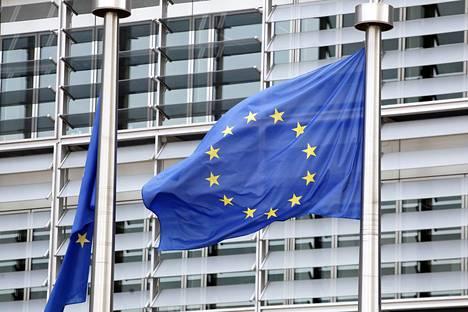EU-parlamentin rakennus Bryssellissä.