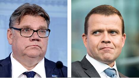 Timo Soini (vas.) ja Petteri Orpo