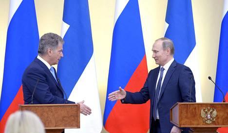 Sauli Niinistö ja Vladimir Putin tapasivat maaliskuun lopulla Moskovassa.