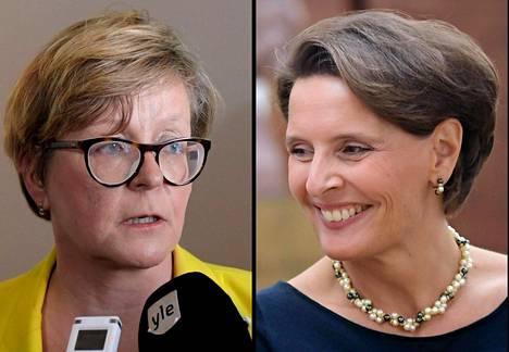 Finavian hallituksen entinen puheenjohtaja Riitta Tiuraniemi ja liikenne- ja viestintäministeri Anne Berner.
