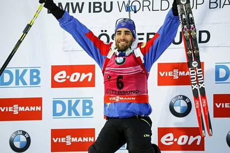 Martin Fourcade otti Östersundin sprinttikisassa 40. voittonsa maailmancupissa.