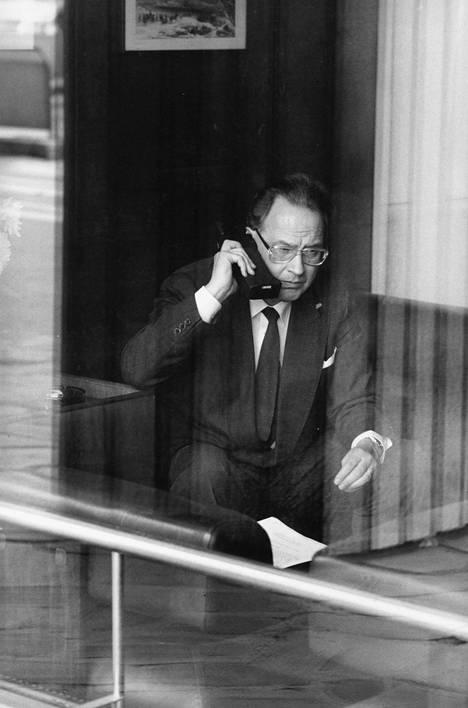 Nokian pääjohtaja Kari Kairamo kuvattuna toukokuussa 1987.