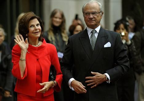 Kuningas Kaarle XVI Kustaa ja kuningatar Silvia osallistuivat skandinaavisen taiteen näyttelyn avajaisiin New Yorkissa toissa viikolla.