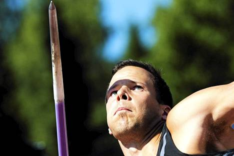 Keihäänheittäjä Tero Pitkämäki on Suomen paras mitalitoivo yleisurheilun MM-kisoissa.
