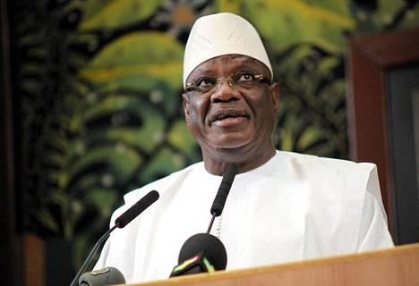 Malin presidentti Ibrahim Boubacar Keita.