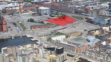 Uutta tapahtumakeskusta on soviteltu Suvilahden koilliskolkkaan Kalasataman metroaseman läheisyyteen.
