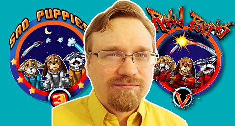 Kouvolassa asuva Markku Koponen julkaisee scifi-kirjallisuutta, joka on Sad Puppies -vallankumouksen keskiössä. Liikkeillä on internetissä omat logonsakin.