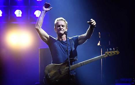 Sting esiintyi Hartwall-areenassa Helsingissä 28. syyskuuta.