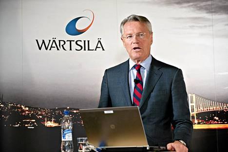 Konsernijohtaja Björn Rosengren kertoi yhteistoimintaneuvotteluista Wärtsilän viime vuoden tulosjulkistuksessa Helsingissä keskiviikkona.