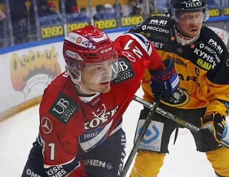 Ville Leskinen debytoi HIFK:n paidassa Oulussa.