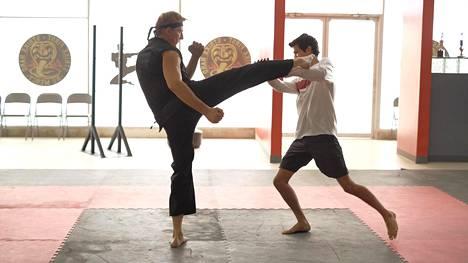 William Zabkan esittämä Johnny palaa karateen, koska haluaa opettaa suojattiaan Miguelia (Xolo Mariduena) sarjassa Cobra Kai.