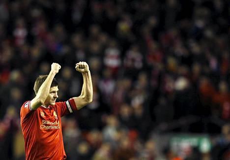 Liverpoolin kapteeni Steven Gerrard kiitti faneja Sunderland-pelin jälkeen.