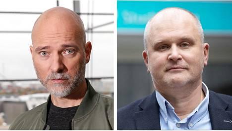 Elokuvaohjaaja Aku Louhimies (vas.) ja Ylen päätoimittaja Jouko Jokinen.