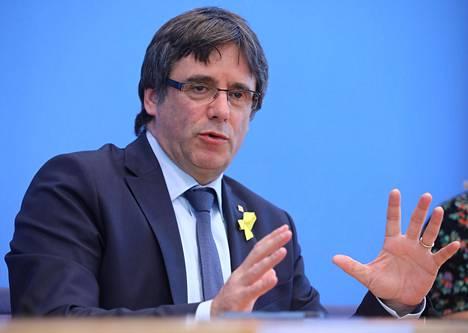 Carles Puigdemont osallistui tiedotustilaisuuteen Berliinissä 25. heinäkuuta.