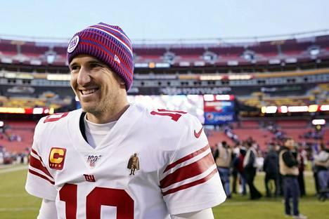 Eli Manning on voittanut urallaan kaksi Super Bowlia.