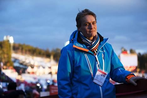 Mika Kojonkoski toimii olympiakomitean huippu-urheiluyksikön johtajana. Kuva Falunin MM-kisoista 2015.