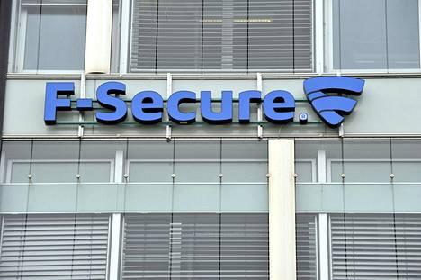 F-securen logo Helsingissä.