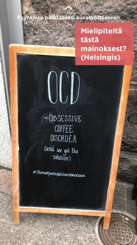 Kuvakaappaus Jodelin OCD-kanavalta.
