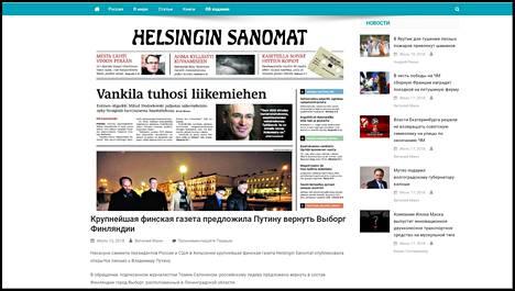 Kuvakaappaus venäläiseltä panorama.pub -satiirisivustolta, jolta perätön tieto ilmeisesti lähti liikkeelle.