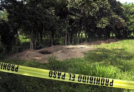 Joukkohauta löytyi maatilalta Nopaltepecin kaupungista Meksikosta.