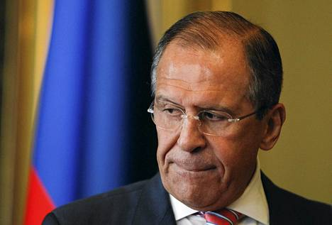 Venäjän ulkoministeri Sergei Lavrov kertoi kantansa lentokieltoalueeseen Italian ulkoministerin kanssa järjestetyssä lehdistötilaisuudessa.
