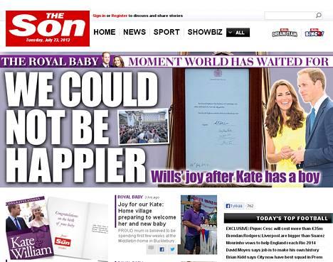 Brittiläinen tabloid-lehti The Sun (aurinko) on nyt The Son.(poika).